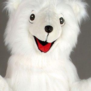 mascota urs alb
