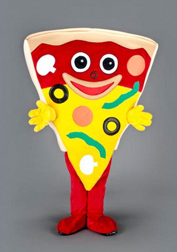 Mascota felie de pizza