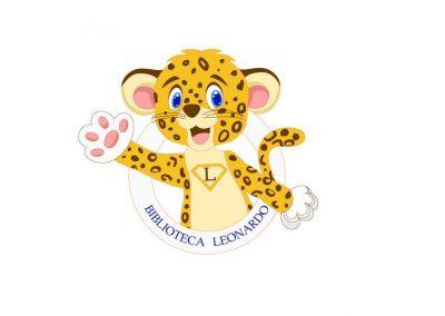 mascota biblioteca Leonardo