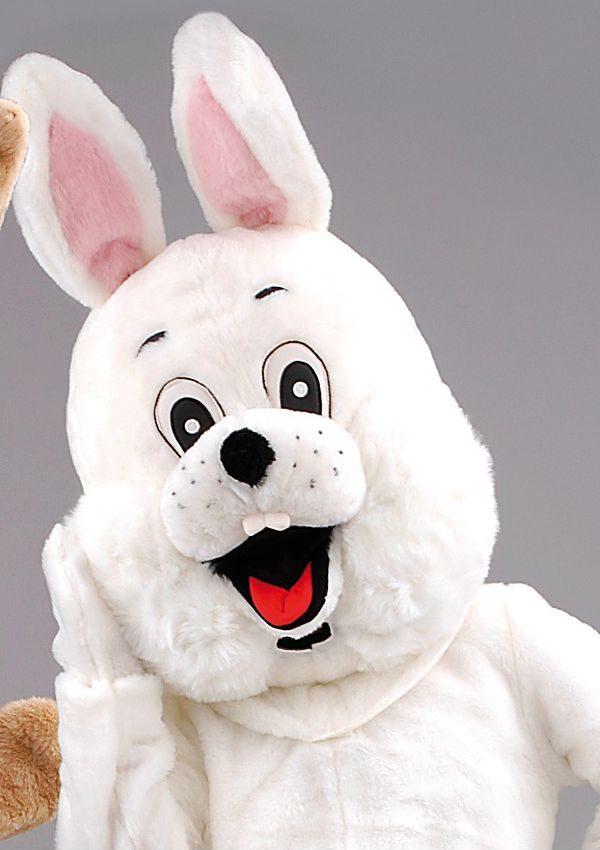 Mascota Iepuras de paste alb / maro ieftina